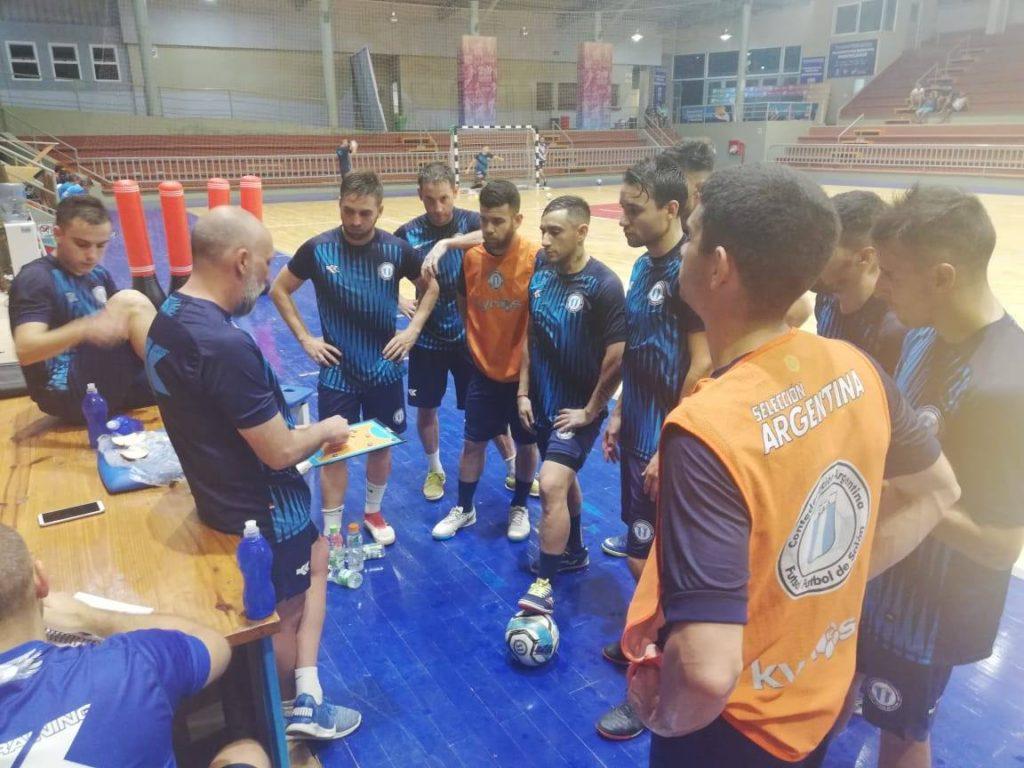 El seleccionado argentino entrena en Montecarlo. Foto: