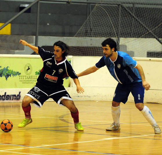 Flavio Del Podio en el encuentro ante Estrella Federal en cuartos de final