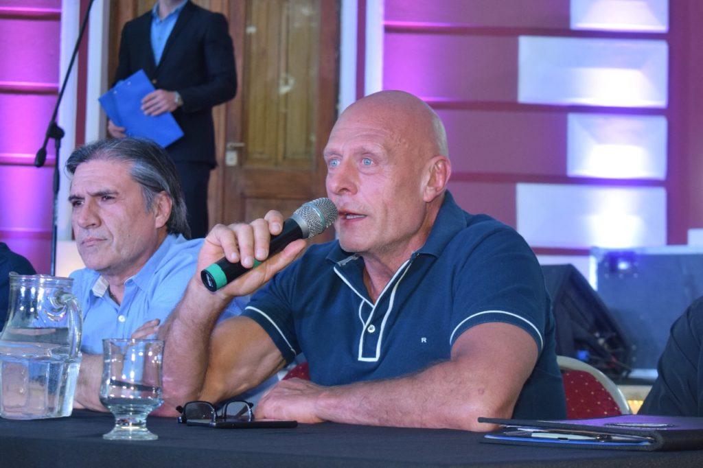 Rubén D'eramo (tesorero) y Héctor Ortiz (presidente), dos de los dirigentes apuntados.