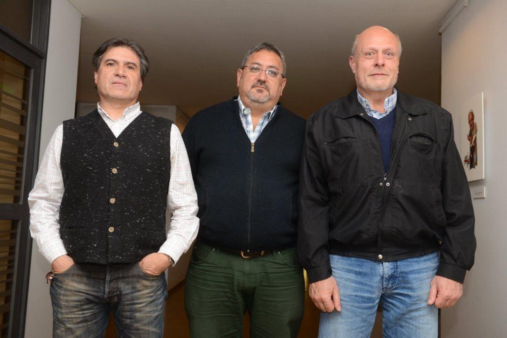 Otros tiempo. Grancara, D'eramo y Ortiz juntos en una entrevista en diario UNO.